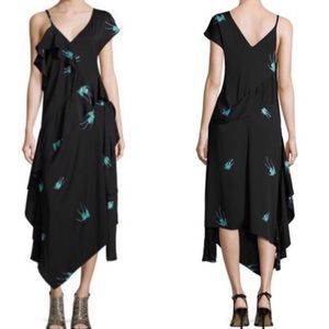 Diane von Furstenberg Bird-Print Silk Dress